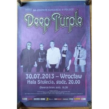 Deep Purple plakat nowy, koncert Wrocław 2013