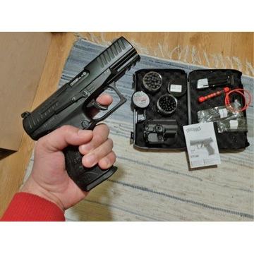 Walther PPQ na gumowe kule, kabura, drugi mag.