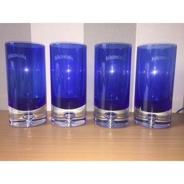 Zestaw 4 szklanek, pokali Nałęczowianka