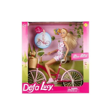 Lalka Defa Lucy na rowerze/ Jak Barbie/+ Ubranka!