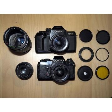 Contax 167MT + 139Q + 3 obiektywy + filtry (Wawa)