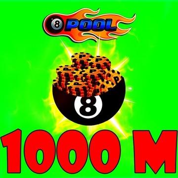 8 BALL POOL Coins/Żetony 1000M NAJTANIEJ!!