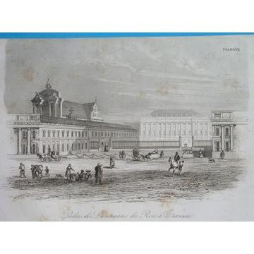 1836 oryginał WARSZAWA Mazowsze PAŁAC PREZYDENCKI