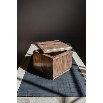 Pudełko drewniane eco na ... biżuterię,