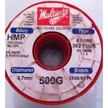 Spoiwo Multicore HMP362 5C 0,7mm 500g Pb93 Sn5 Ag2