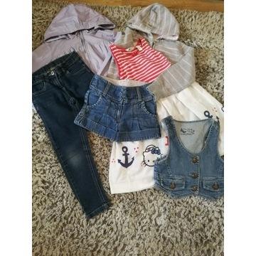 Zestaw ubrań dla dziewczynki rozm. 110-116 - 6 szt