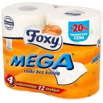 PAPIER TOALETOWY FOXY MEGA 4SZT