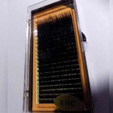Rzęsy S&C; MiX długości, grubość: 0.10;  skręt: C
