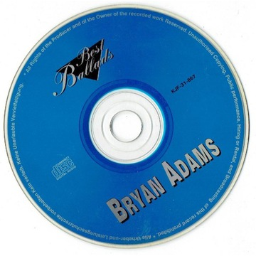 Bryan Adams Best Ballads CD KJF-31-867