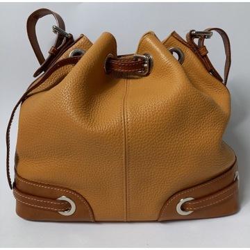 I SANTI włoska torebka worek ze skóry
