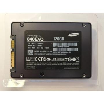 "SZYBKI DYSK SAMSUNG EVO SSD120GB SATA 2.5"" +WIN10"