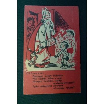 ŚW. MIKOŁAJ DIABEŁ PREZENTY DZIECI OK. 1925 R.