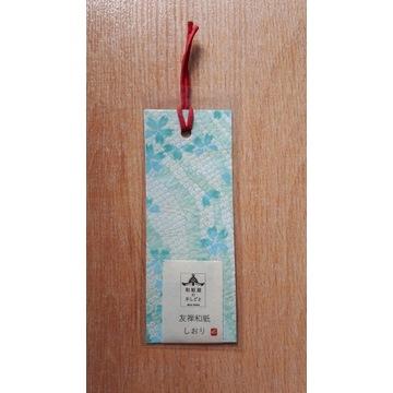 Zakładka z papieru washi - niebieska