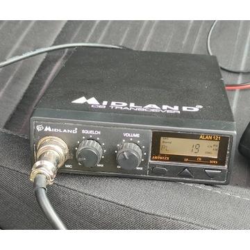 CB radio Midland Alan121+antena President