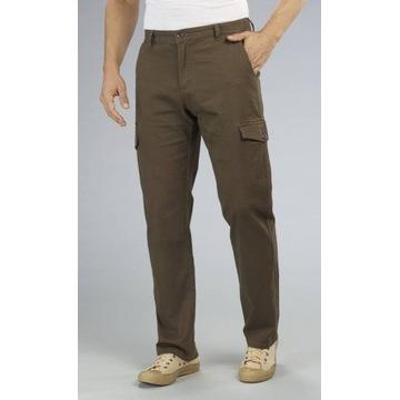 Spodnie cargo, brązowe, rozmiar 60