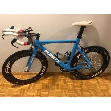 Rower triathlonowy Planet X koła aero full karbon