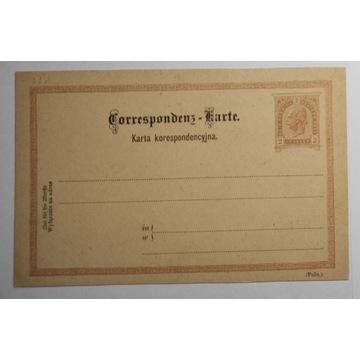 CP 10 typ II, Karta Korespondencyjna 1890