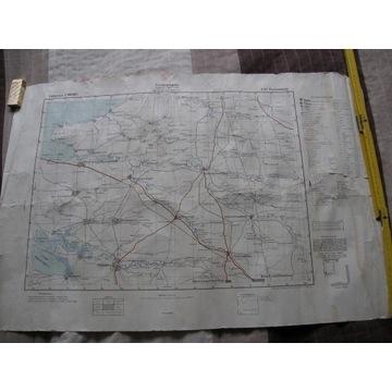 MAPA SZTABOWA ROSJA PAWLOWSKAJA 1942 NIEMCY