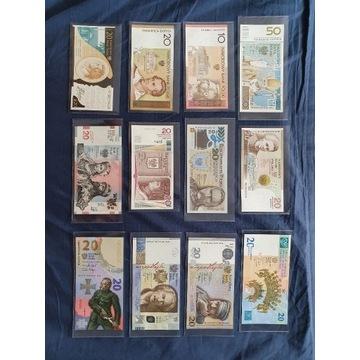 Banknoty kolekcjonerskie UNC z etui.