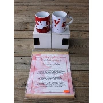 Zestaw na rocznicę ślubu - 2 kubki + dyplom !