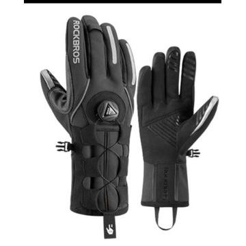 Rękawice rowerowe zimowe system boa