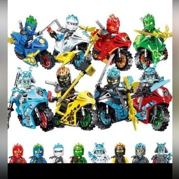 8 FIGUREK NINJAGO + MOTORY ZE ŚWIATA LEGO NINJAGO