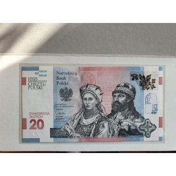 Banknot Chrzest Polski 1050 Rocznica pwpw,nbp