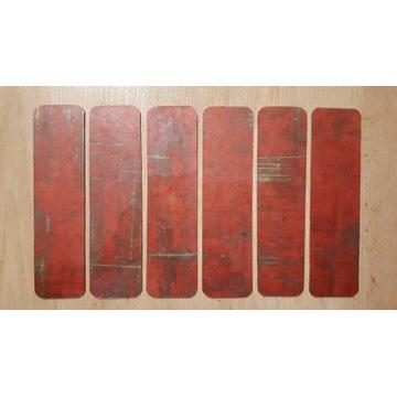 Zakładki do książek - czerwone