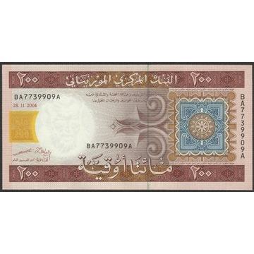 Mauretania 200 ouguiya 2004 - stan bankowy UNC