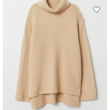 H&M sweter Wełna oversize Golf M