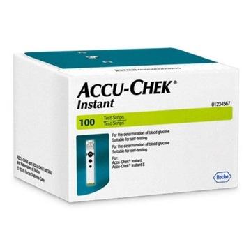 Accu-Check Instant paski do glukozy glukometru 100