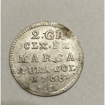 2 grosze 1766, stan II+