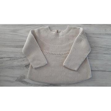 Sweterek ZARA, beżowy, rozmiar 80, jak nowy