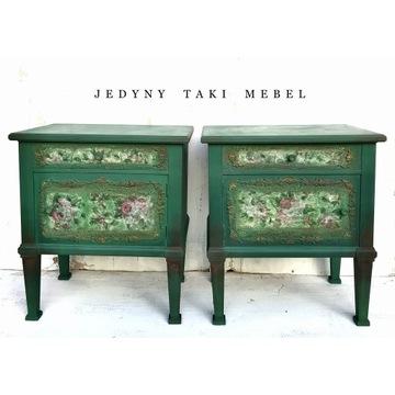 nakastliki/szafki do sypialni vintage zielone