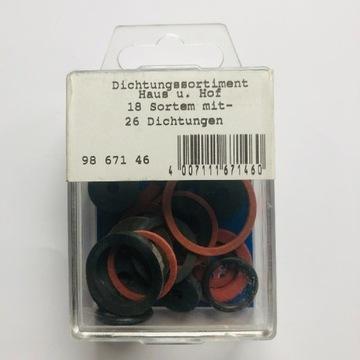 Zestaw uszczelek gumowych i fibrowych 26 szt
