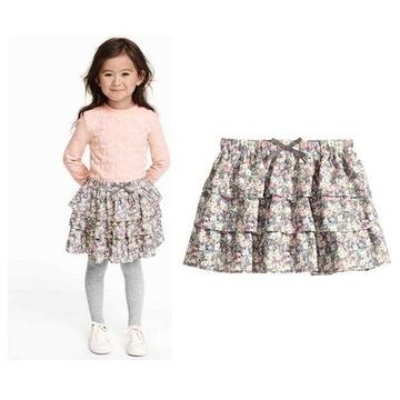 H&M spódniczka z falbankami140