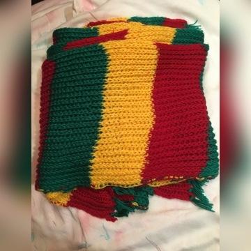 Ręcznie pleciony wełniany szalik Rasta długi