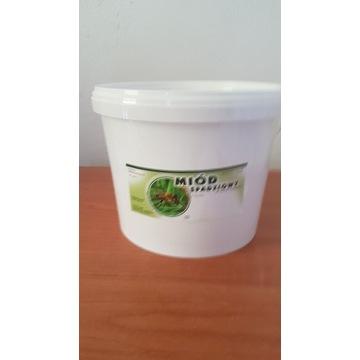 Miód Pszczeli Spadziowy Iglasty  wiaderko 10 kg