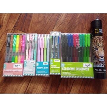 Długopisy ołówki mechaniczne mazaki kredki