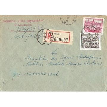 Marki - Koperty listów poleconych 1960-80