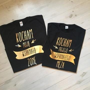 Zestaw koszulek dla rodziny koszulki mąż żona