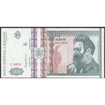 Rumunia 500 lei 1992 - 400 - stan bankowy - UNC -