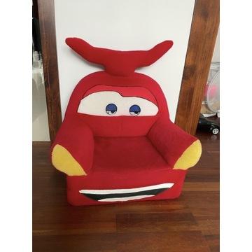 Fotel pufa zigzak czerwone autko
