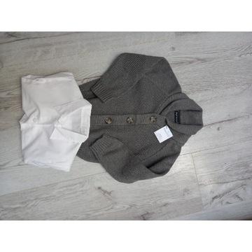 Sweter i koszula - zestaw rozm. 92