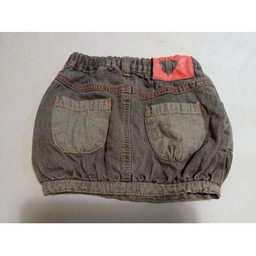 Spódniczka dżinsowa grafitowa z kieszonkami 80