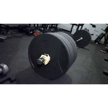 Obciążenie 100kg + gryf olimpijski 220 cm 20 kg