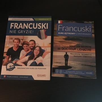Francuskinie gryzie + kurs z kryminałem CD A1-A2