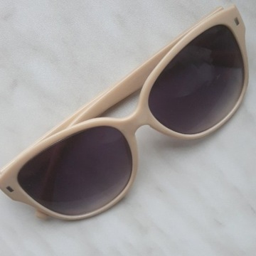 Okulary białe z filtrem UV400