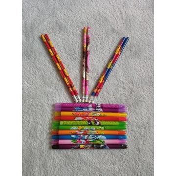 Ołówki 6 szt + kredki zapachowe warzywka 10 szt