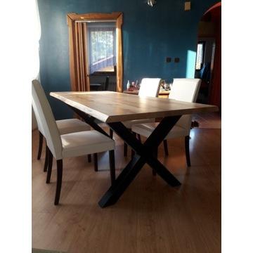 Stół dębowy loft, 212cm x 97cm, na 10 osób, lity